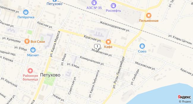 Арендовать коммерческую недвижимость 220 м<sup>2</sup> в Петухово по адресу Россия, Курганская область, Петухово, Московская улица, 15