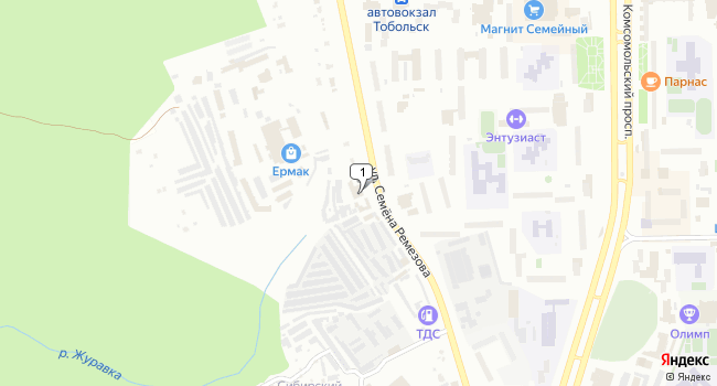 Купить коммерческую недвижимость 439 м<sup>2</sup> в Тобольске по адресу Россия, Тюменская область, Тобольск, улица Семёна Ремезова, 115