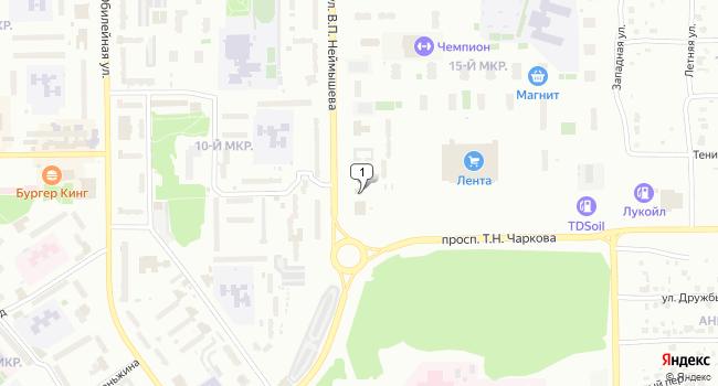 Купить коммерческую недвижимость 122 м<sup>2</sup> в Тобольске по адресу Россия, Тюменская область, Тобольск, 15-й микрорайон, 49А