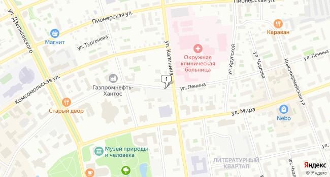 Купить торговую площадь 260 м<sup>2</sup> в Ханты-Мансийске по адресу Россия, Ханты-Мансийский автономный округ, Ханты-Мансийск, улица Ленина