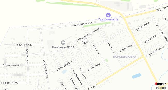 Купить земельный участок 9680000 м<sup>2</sup> в Ишиме по адресу Россия, Тюменская область, Ишим, улица 1-я Линия