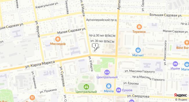 Купить коммерческую недвижимость 132 м<sup>2</sup> в Ишиме по адресу Россия, Тюменская область, Ишим, улица Карла Маркса, 21