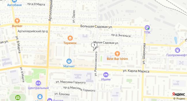 Купить коммерческую недвижимость 89 м<sup>2</sup> в Ишиме по адресу Россия, Тюменская область, Ишим, улица 30 лет ВЛКСМ, 51