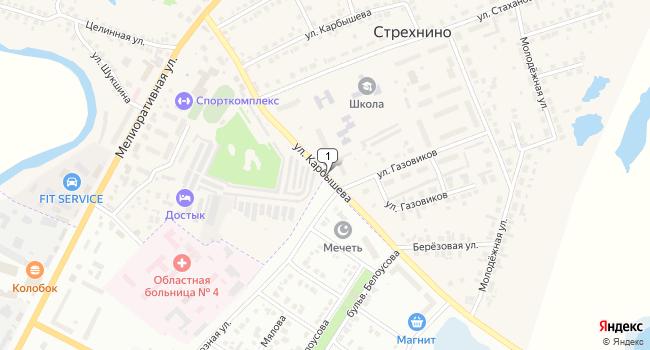 Купить коммерческую недвижимость 18 м<sup>2</sup> в Ишиме по адресу Россия, Тюменская область, Ишимский район, село Стрехнино, улица Карбышева
