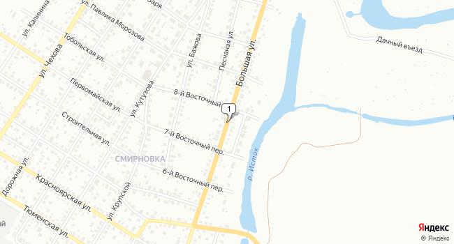 Купить коммерческую недвижимость 18 м<sup>2</sup> в Ишиме по адресу Россия, Тюменская область, Ишим, Большая улица