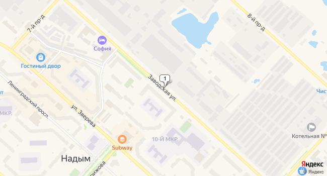 Купить торговую площадь 80 м<sup>2</sup> в Надыме по адресу Россия, ЯНАО, Надым, Заводская улица