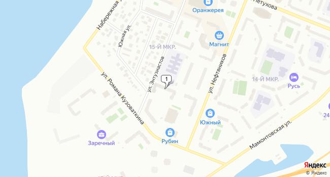 Арендовать офис 92 м<sup>2</sup> в Нефтеюганске по адресу Россия, ХМАО, Нефтеюганск, 15-й микрорайон, 18