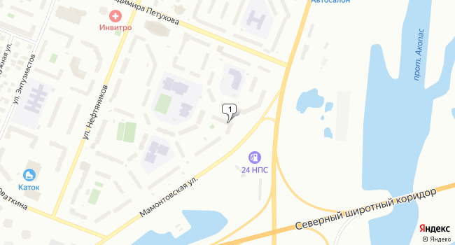 Арендовать коммерческую недвижимость 89 м<sup>2</sup> в Нефтеюганске по адресу Россия, ХМАО, Нефтеюганск, 14-й микрорайон, 35А