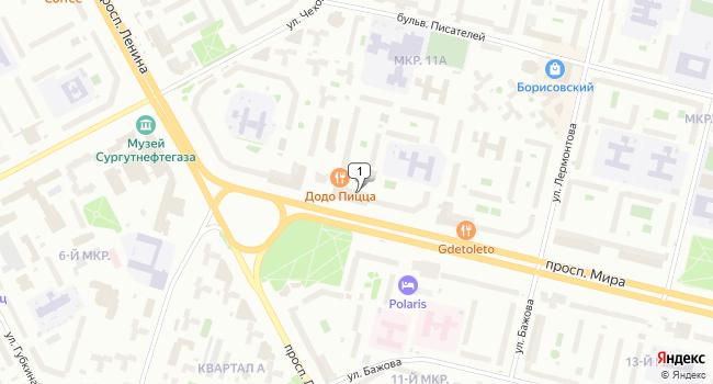 Арендовать торговую площадь 600 м<sup>2</sup> в Сургуте по адресу Россия, ХМАО, Сургут, проспект Мира, 5