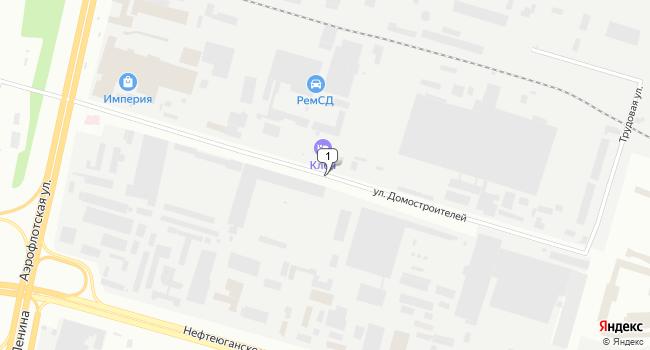 Арендовать склад 10426 м<sup>2</sup> в Сургуте по адресу Россия, ХМАО, Сургут, улица Домостроителей