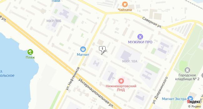 Арендовать торговую площадь 258 м<sup>2</sup> в Нижневартовске по адресу Россия, Ханты-Мансийский автономный округ, Нижневартовск, улица Нефтяников, 82