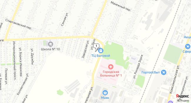 Купить торговую площадь 128 м<sup>2</sup> в Рубцовске по адресу Россия, Алтайский край, Рубцовск, Оросительная улица, 234