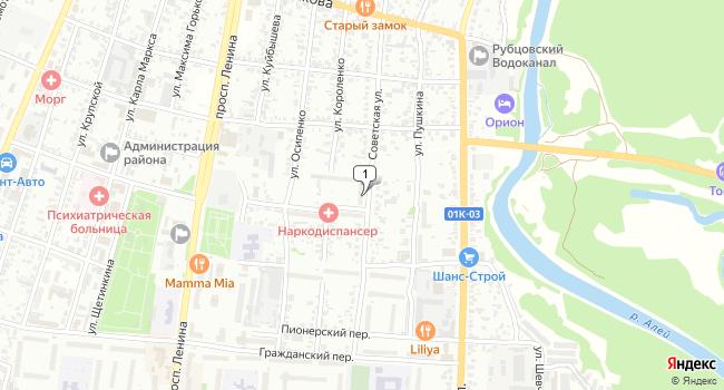 Купить коммерческую недвижимость 2000 м<sup>2</sup> в Рубцовске по адресу Россия, Алтайский край, Рубцовск, Юбилейная улица, 38