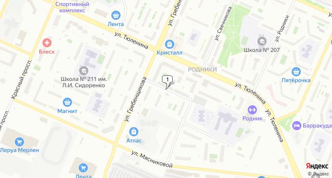 Арендовать склад 175 м<sup>2</sup> в Новосибирске по адресу Россия, Новосибирск, микрорайон Родники, улица Михаила Немыткина