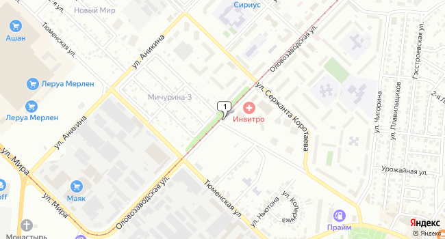Арендовать склад 1100 м<sup>2</sup> в Новосибирске по адресу Россия, Новосибирск, Северо-Чемской жилмассив, Оловозаводская улица
