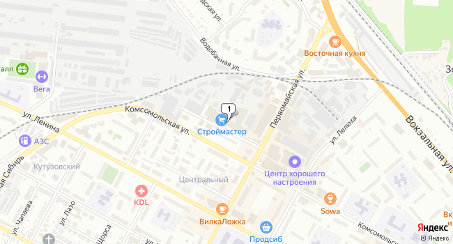 Арендовать торговую площадь 1037 м<sup>2</sup> в Бердске по адресу Россия, Новосибирская область, Бердск, Промышленный переулок, 2А
