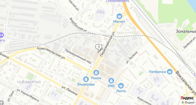 Купить торговую площадь 1568 м<sup>2</sup> в Бердске по адресу Россия, Новосибирская область, Бердск, Первомайская улица, 12