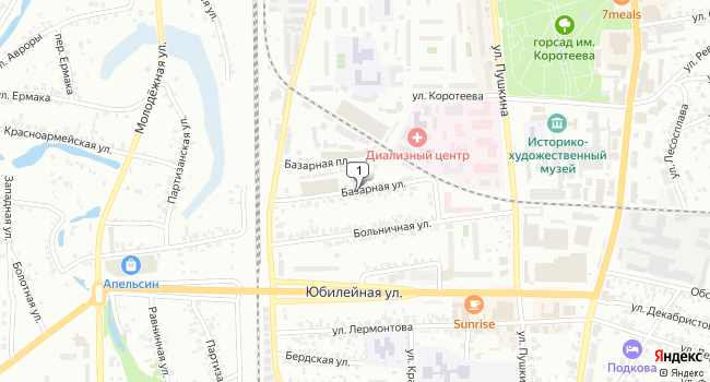 Купить торговую площадь 852 м<sup>2</sup> в Искитиме по адресу Россия, Новосибирская область, Искитим, Базарная улица