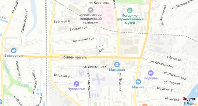 Купить офис 6 м<sup>2</sup> в Искитиме по адресу Россия, Новосибирская область, Искитим, микрорайон Индустриальный, 52А