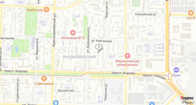 Арендовать торговую площадь 27 м<sup>2</sup> в Томске по адресу Россия, Томск, улица Дзержинского, 40