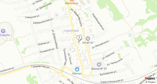 Купить торговую площадь 1501 м<sup>2</sup> в Киселёвске по адресу Россия, Кемеровская область, Киселёвск, улица Дзержинского, 13