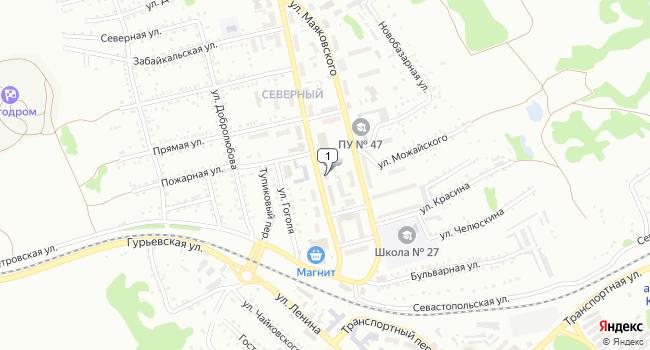 Купить торговую площадь 148 м<sup>2</sup> в Киселёвске по адресу Россия, Кемеровская область, Киселёвск, улица Дзержинского, 9