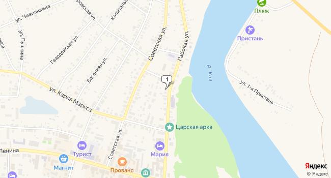 Купить торговую площадь 117 м<sup>2</sup> в Мариинске по адресу Россия, Кемеровская область, Мариинск, Рабочая улица, 29