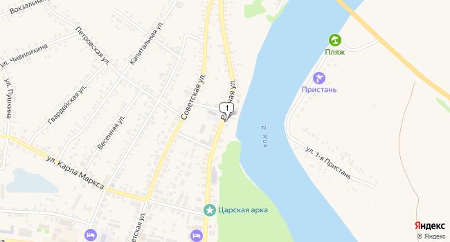 Купить торговую площадь 117 м<sup>2</sup> в Мариинске по адресу Россия, Кемеровская область, Мариинск, Рабочая улица, 30