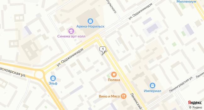 Арендовать торговую площадь 265 м<sup>2</sup> в Норильске по адресу Россия, Красноярский край, Норильск, Ленинский проспект, 47