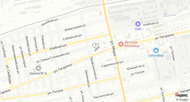 Купить торговую площадь 54 м<sup>2</sup> в Абакане по адресу Россия, Республика Хакасия, Абакан, улица Гагарина, 58