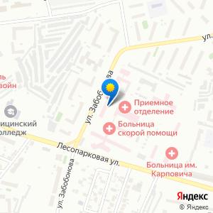 Схема проезда: Городская поликлиника №4, расположенный по адресу «Красноярск, улица Курчатова, 17с5»