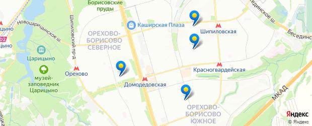 Метро Домодедовская - Карта Москвы
