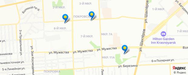 Найдено 3 невролога — Покровка, Красноярск на карте