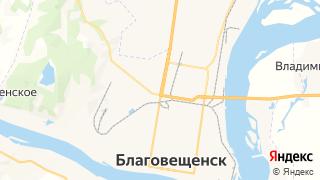 Карта автосервисов Благовещенска