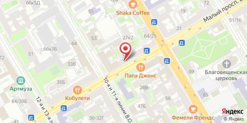 Кофейня Сливки Петербурга, Санкт-Петербург, Малый пр., В. О., 29