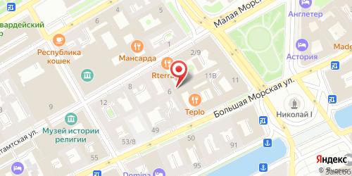 Ресторан Канвас, Санкт-Петербург, ул. Почтамтская, д. 4.