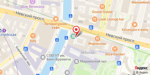 Ресторан GLOSS CAFE, Санкт-Петербург, Невский пр., д. 17
