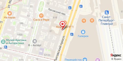 Оливетто (Olivetto), Лиговский пр., 61-63 (отель Crowne Plaza St. Petersburg Ligovsky / Краун Плаза Лиговский, 2-й этаж)