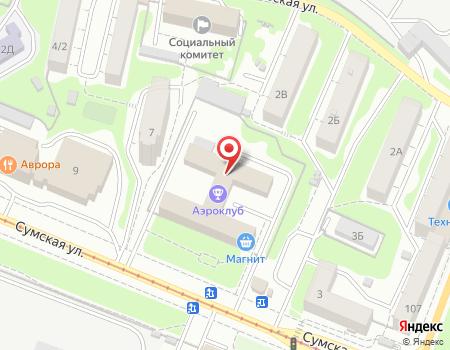 Схема расположения офиса турагентства «Талисман-тур»