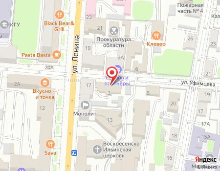 Схема расположения офиса турагентства «Радонеж-Курск»