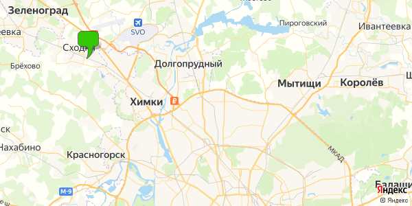 Yandex Map of 37.5511,55.8958