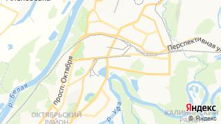 Карта автосервисов Уфы