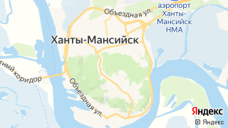 Карта автосервисов Ханты-Мансийска