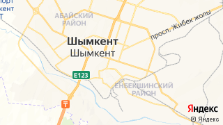 Карта автосервисов Шымкента