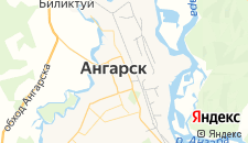 Гостиницы города Ангарск на карте