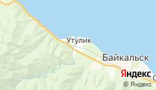 Гостиницы города Утулик на карте