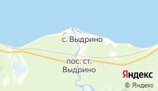 Гостиницы города Выдрино на карте
