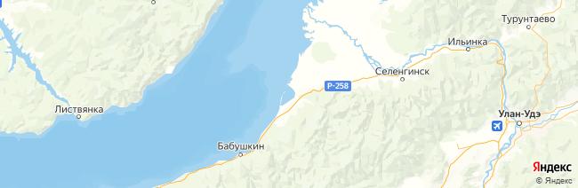Залив Посольский сор на карте