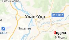 Гостиницы города Улан-Удэ на карте