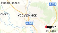 Гостиницы города Уссурийск на карте